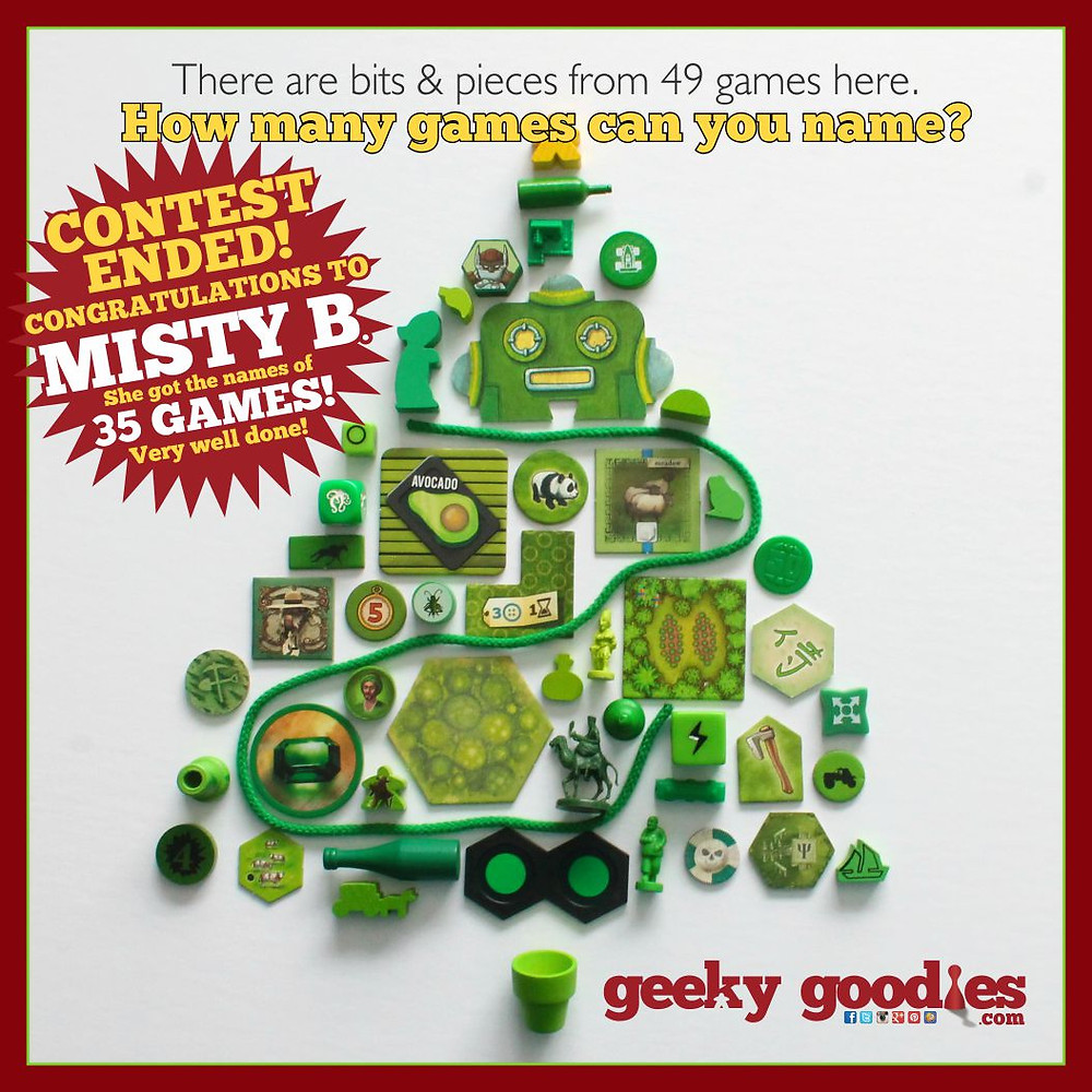 Holiday Contest Winner | Bits & Pieces Contest Winner | meeple | Geeky Goodies