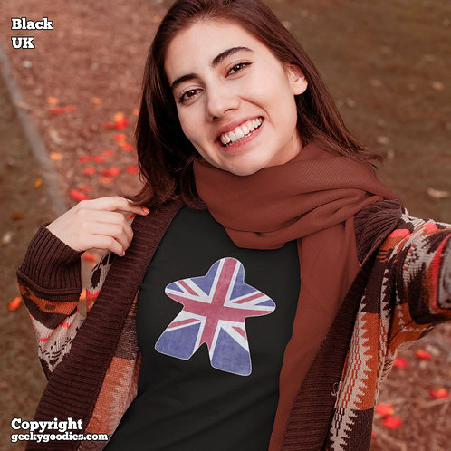 Meeple Flag Ladies FITTED T-shirts