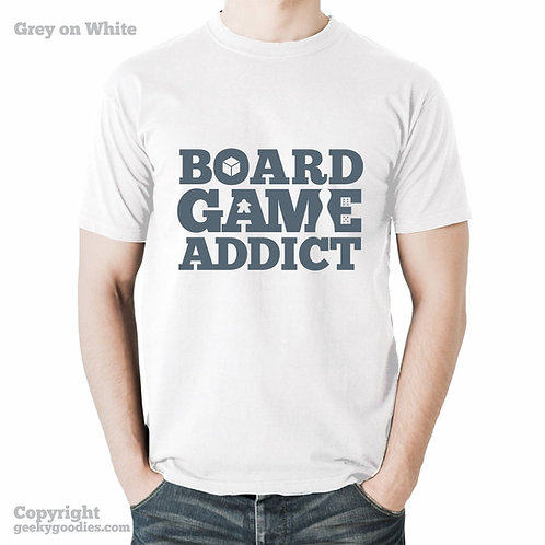 Board Game Addict Men's/Unisex White Shirt