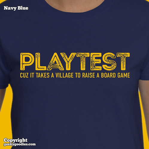 PLAYTEST Cuz It Takes a Village To Raise a Board Game Women's T-shirt