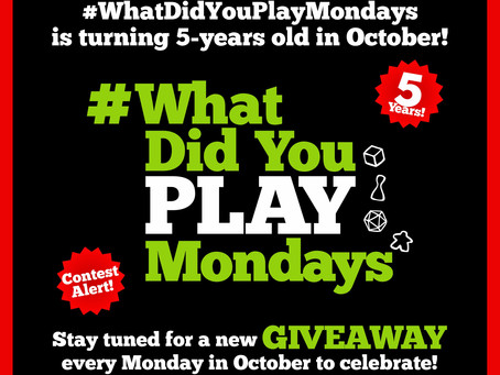 #WhatDidYouPlayMondays is Turning 5-Years Old in October!