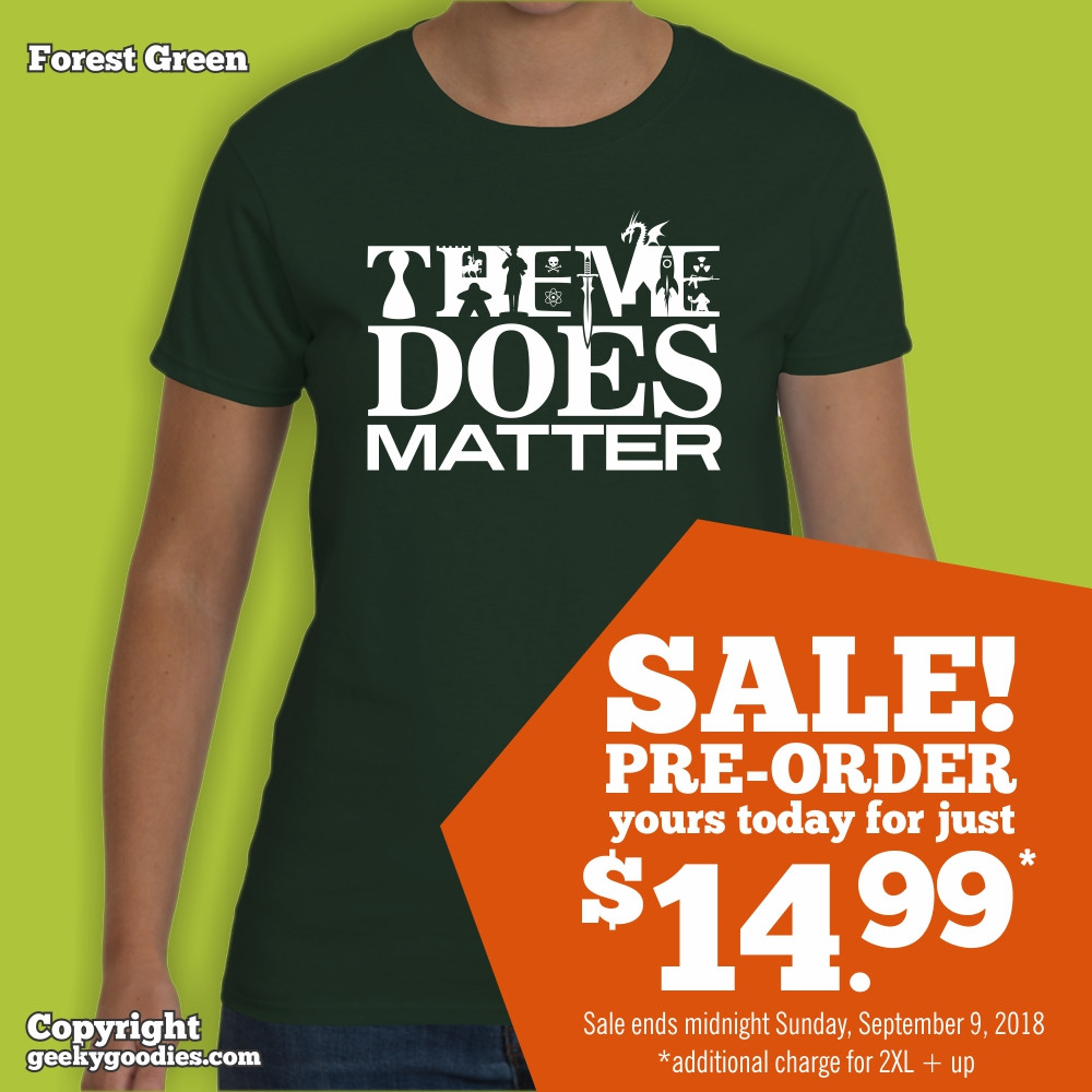 Theme Does Matter T-shirt | Geeky Goodies