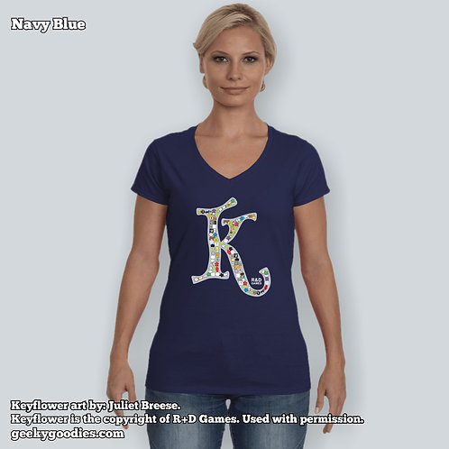 Keyflower Key-series Women's FITTED V-neck T-shirts