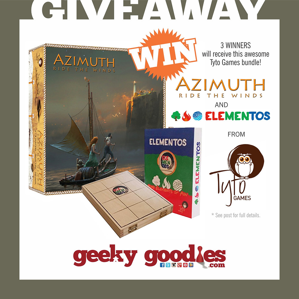 Enter for a chance to WIN one of 3 bundles of AZIMUTH Ride the Winds AND Elementos from Tyto Games!