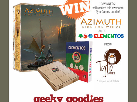 Board Game Giveaway! WIN AZIMUTH Ride the Winds AND Elementos