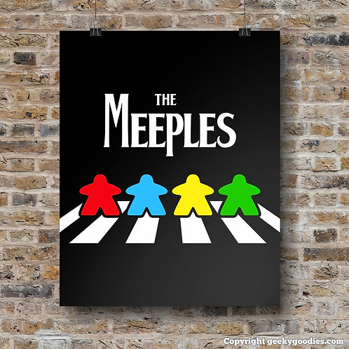 The Meeples of Abbey Road Poster
