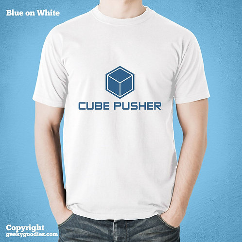 Cube Pusher Men's/Unisex White T-shirt