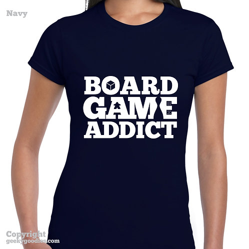Board Game Addict Women's Fitted T-shirt