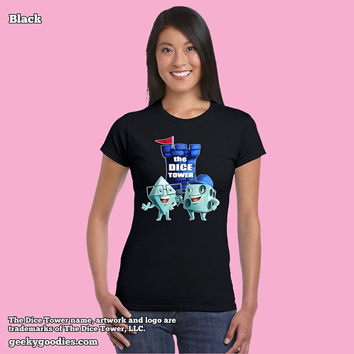 Dice Eric & Tom from The Dice Tower Womens FITTED T-shirts