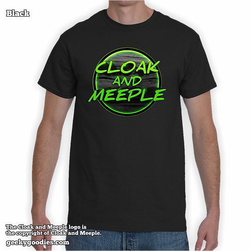 Cloak and Meeple Mens/Unisex T-shirt (Dark Colors)