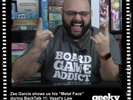 Zee Garcia Wearing Our Board Game Addict T-shirt