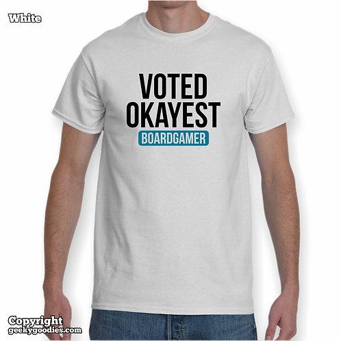 Voted Okayest Boardgamer Men's/Unisex White T-shirt