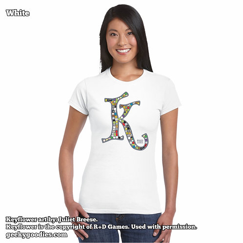 Keyflower Key-series Women's FITTED White T-shirts