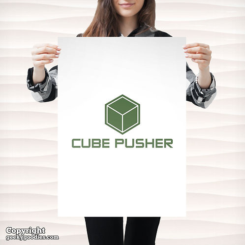 Cube Pusher Poster