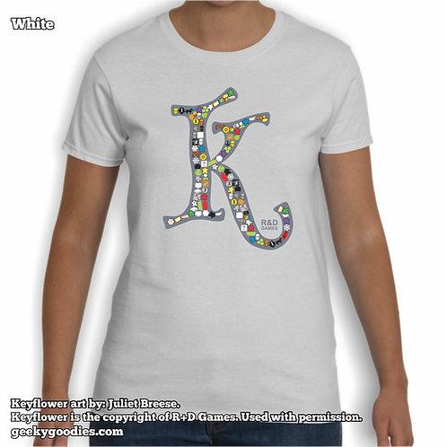 Keyflower Key-series Women's White Tee