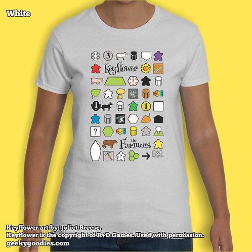 Keyflower: The FarmersWomen's White Tshirt