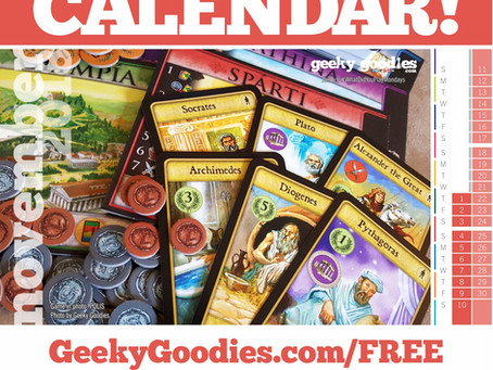 FREE Board Game Calendar for November 2018