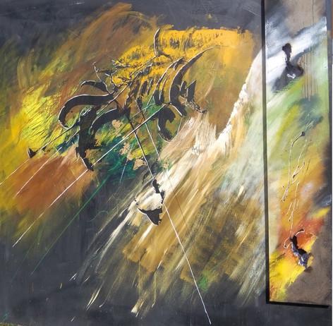 """jo,mad et stel """"art abstrait nathacha série couleurs"""