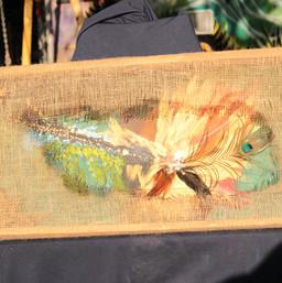 XOCHIQUETZAL OR MOST PRECIOUS FLOWER/art abstrait nathacha série woman american native first name