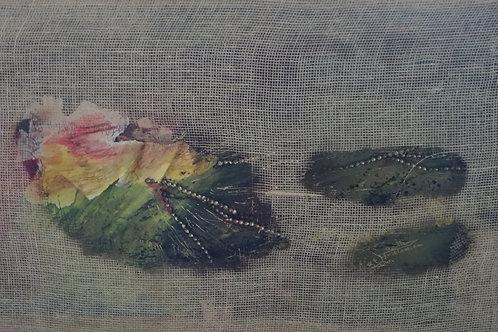 Citlamini ou flèche des étoiles -120x60cm -techniques mixte