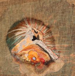 Uetzcayotl or light oil /art abstrait nathacha série woman american native first name