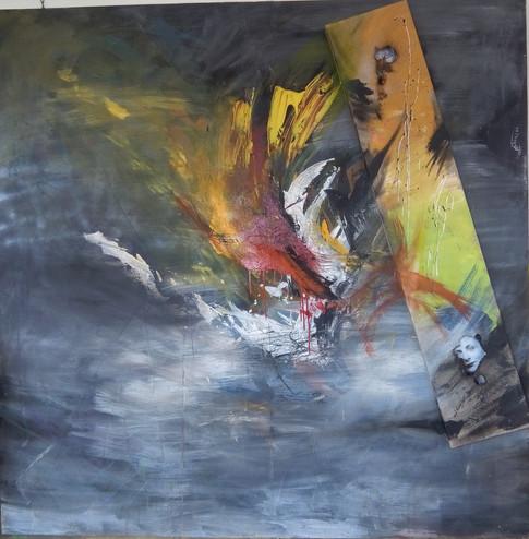 """le brouillard du ried """"art abstrait nathacha série couleurs"""