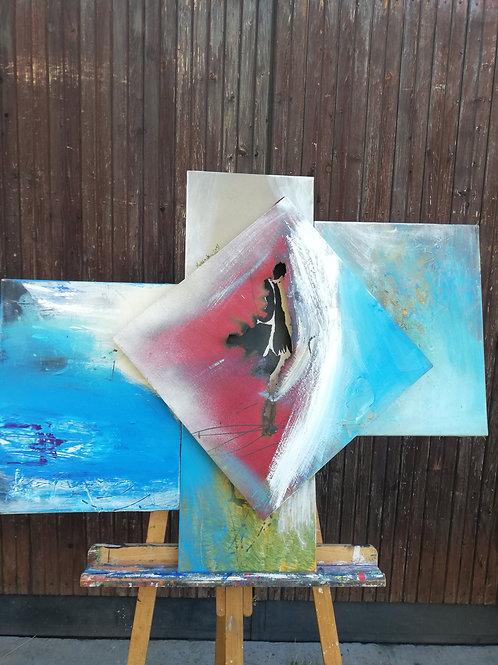 Hommage à la France des artistes _100x70cm