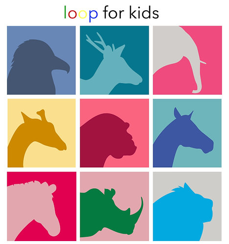 loop kids kit full set of 9 animals