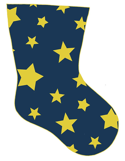 navy stars stocking