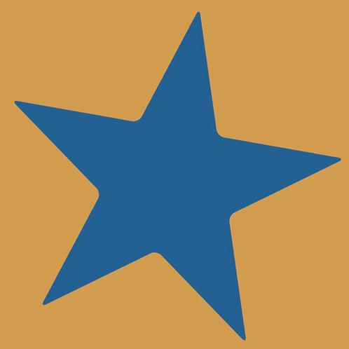 star (blue/mustard)