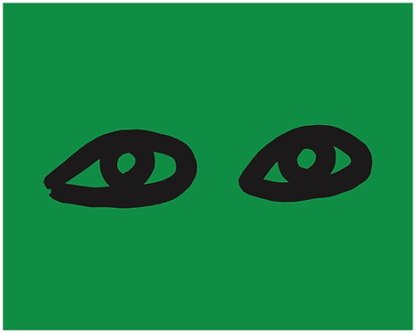 green with black eyes (ClareV and loop)