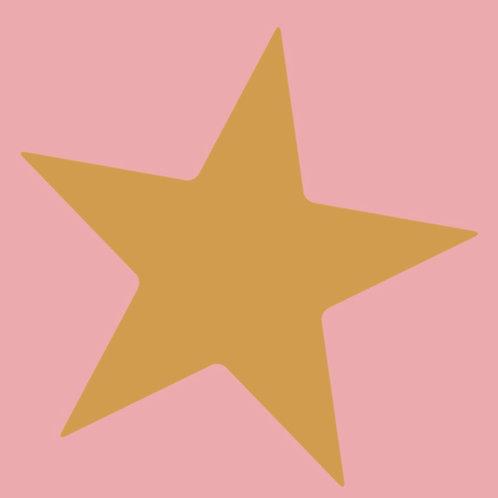 star (mustard/pink)