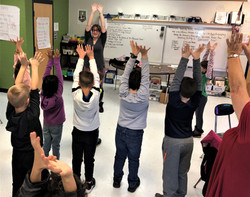 18-19 kids stretching