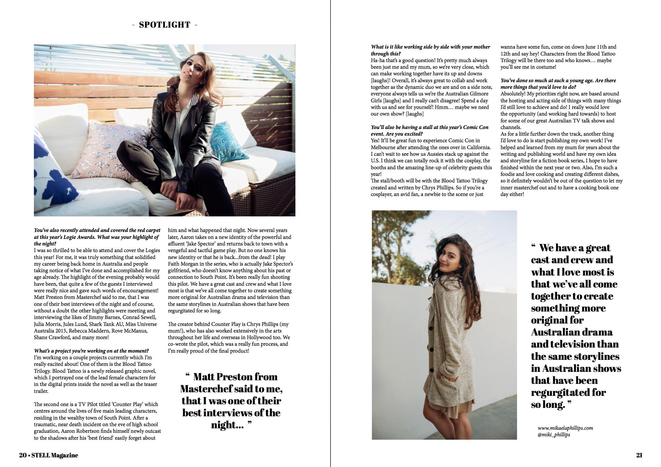 Mikaela Phillips Interview