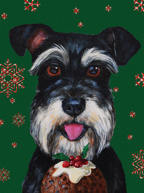 Pudding Face High Quality Dog  Christmas Card