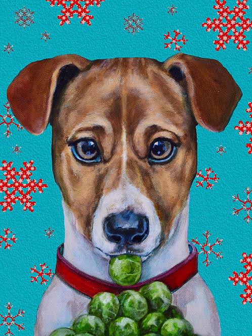 'Jack Brussels' High Quality Dog Christmas Card