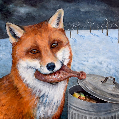 Funny Fox Christmas Card