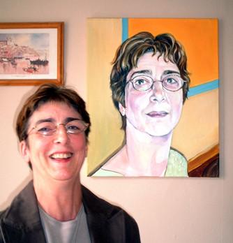Client with portrait