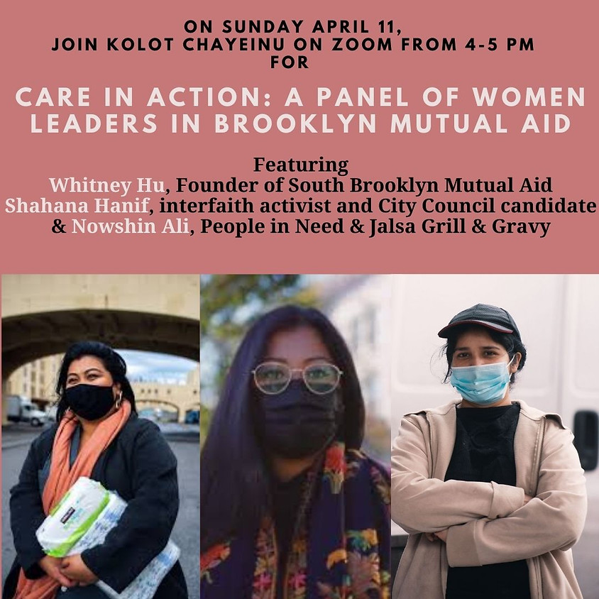 4:00PM Care in Action: A Panel of Women Leaders in Brooklyn Mutual Aid