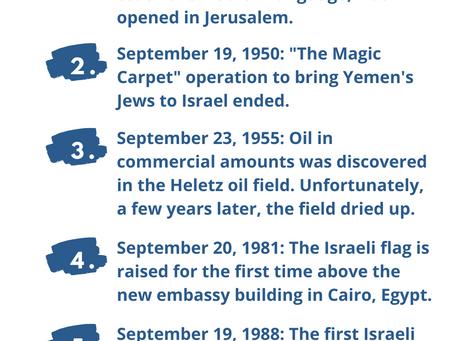 Next Week in Israel's History September 19-23