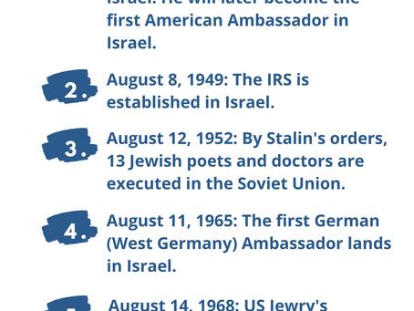 Next Week in Israel's History August 8-14