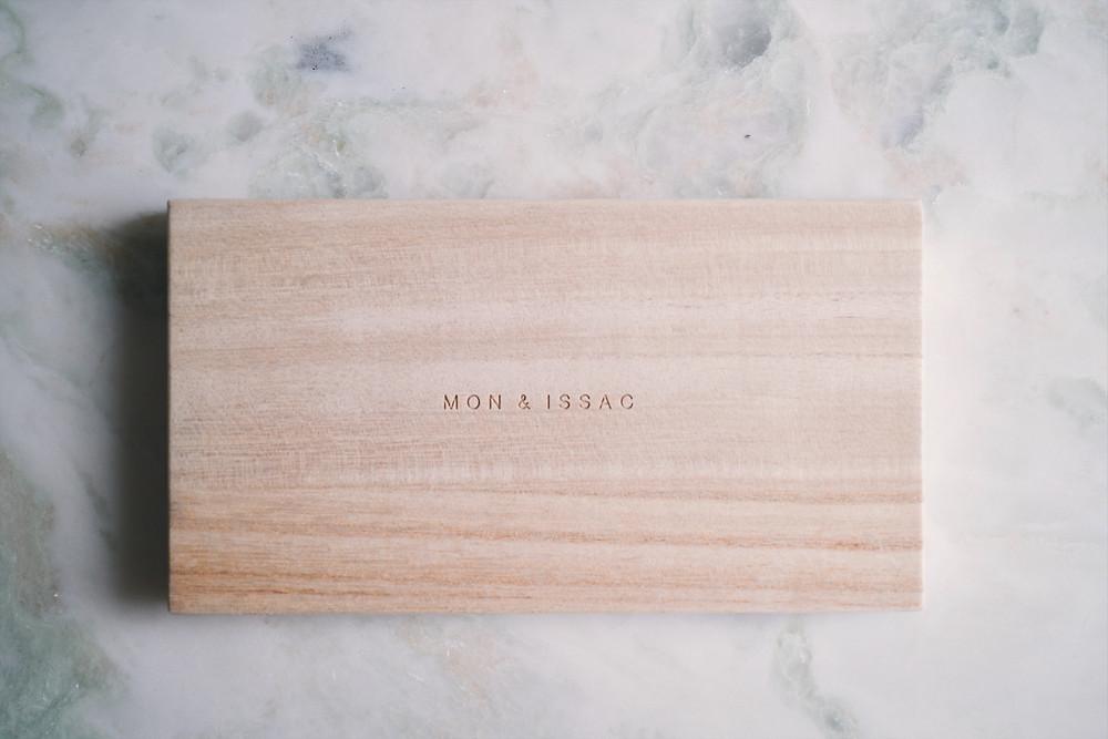 Mon & Issac Keepsake Wooden Box by VERC