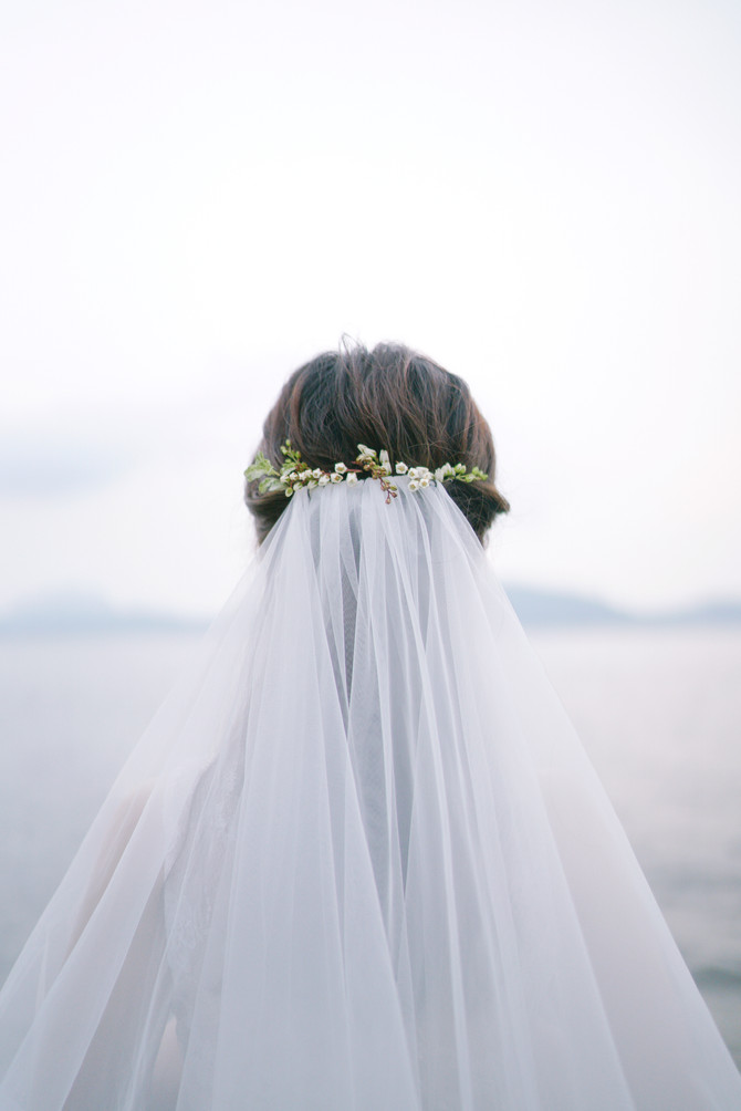 Bridal Portrait at the Seaside