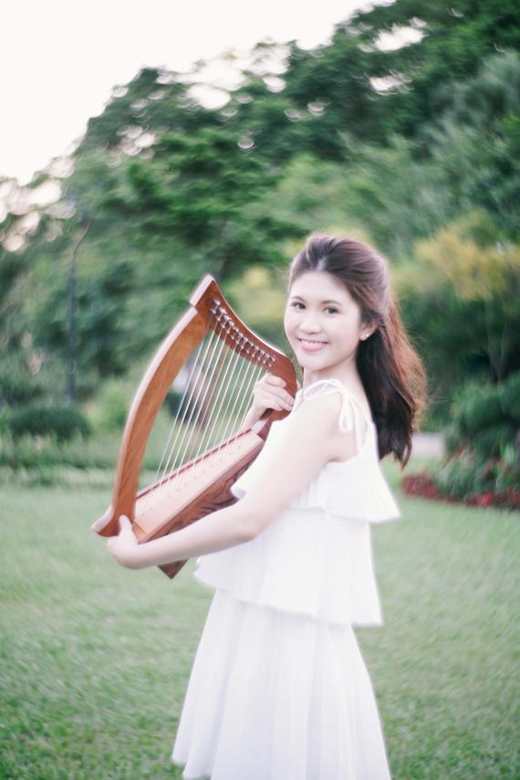 Harpist Cherry Portrait
