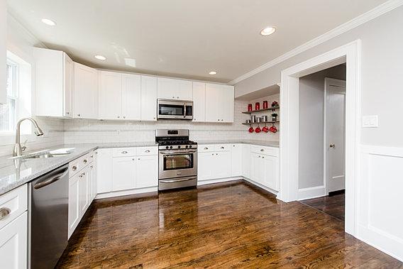 White Shaker Kitchen Cabinets Design Showroom