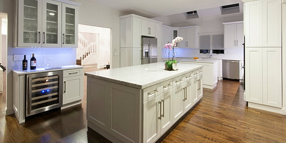 White Shaker Kitchen Cabinets Design Showroom