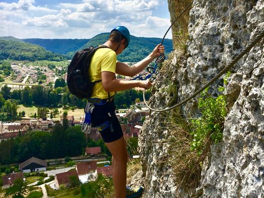 Via Ferrata de la Roche du Mont à Ornans
