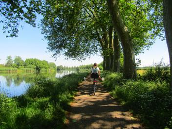 Pédaler le long de la Voie-Bleue en Haute Saône