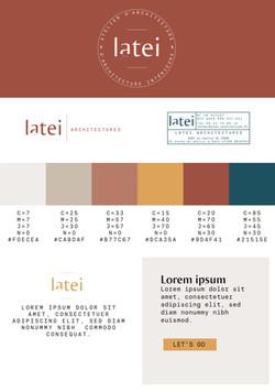Charte graphique Latei architecture