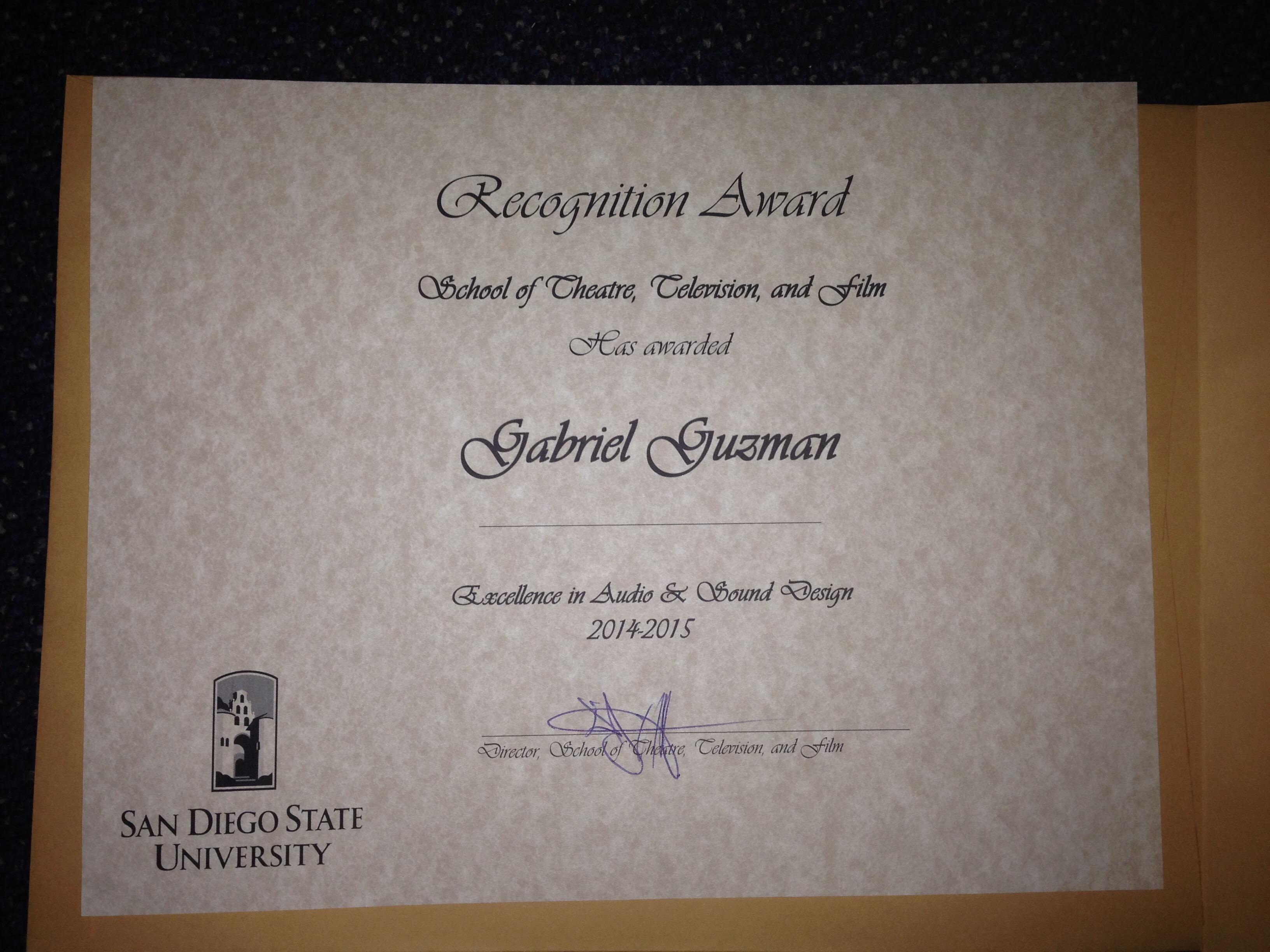 SDSU Award